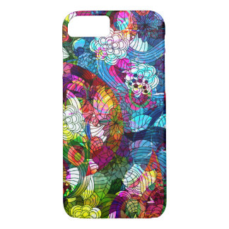 Cool Colorful Retro Flowers Collage iPhone 7 Case