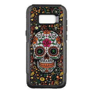 Cool Colorful Retro Flowers Sugar Skull OtterBox Commuter Samsung Galaxy S8  Case