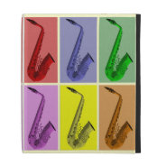 Cool Colorful Saxophone Collage iPad Case at Zazzle