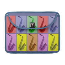 """Cool Colorful Saxophone Collage Macbook Pro 13"""" Sleeves For  MacBook Pro at Zazzle"""