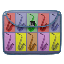 """Cool Colorful Saxophone Collage Macbook Pro 15"""" MacBook Pro  Sleeve at Zazzle"""