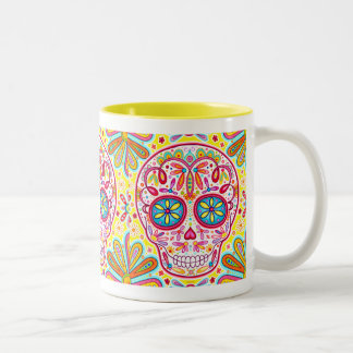 Cool Colorful Sugar Skull Mug - Day of the Dead
