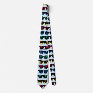 Cool Colorful Sunglasses Illustration Tie