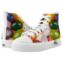 Cool colorful sweet Easter Jelly Beans Candy High-Top Sneakers