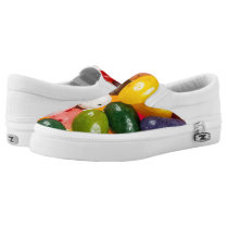 Cool colorful sweet Easter Jelly Beans Candy Slip-On Sneakers