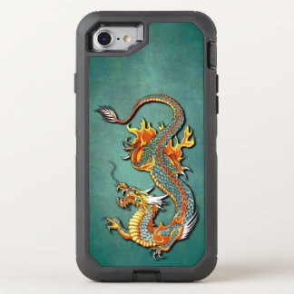 Cool Colorful Vintage Fantasy Fire Dragon Tattoo OtterBox Defender iPhone 7 Case