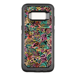 Cool Colorful Vintage Floral Paisley Pattern OtterBox Commuter Samsung Galaxy S8 Case