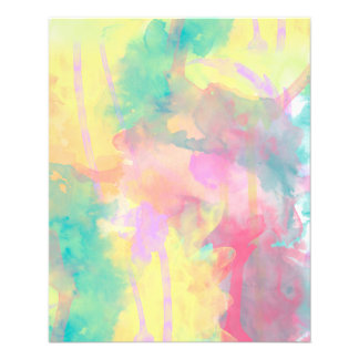 Cool colorful watercolor paint abstract pattern flyer