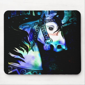 Cool Colors Carousel Horse Mouse Pad