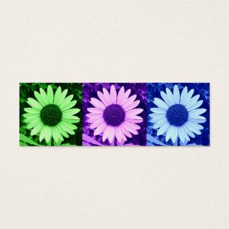 Cool Colors Sunflower Bookmark Mini Business Card