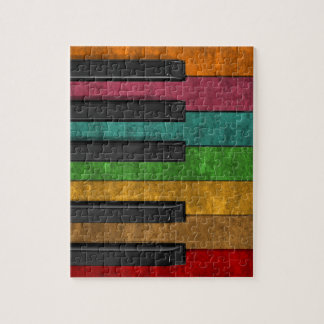 Cool colourful antique grunge effect piano jigsaw puzzle