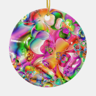 cool colourful bright flowers hearts background ornaments