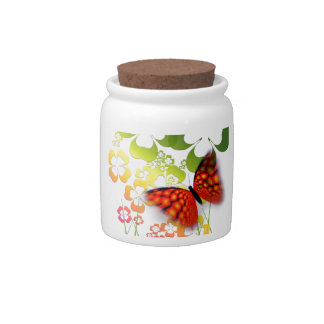 cool colourful butterfly and  clovers candy dish
