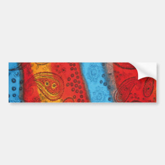 Cool Colourful Fabric bumper sticker