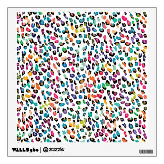 Cool colourful girly trendy Leopard animal print Wall Skins