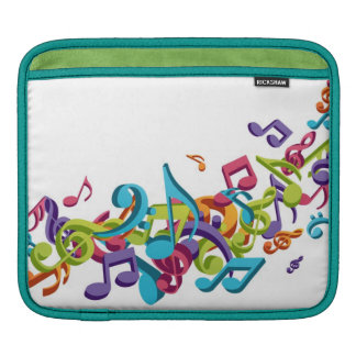 cool colourful music notes and sounds sleeves for iPads