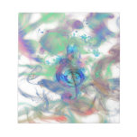 Cool colourful music notes smoke effects image notepad