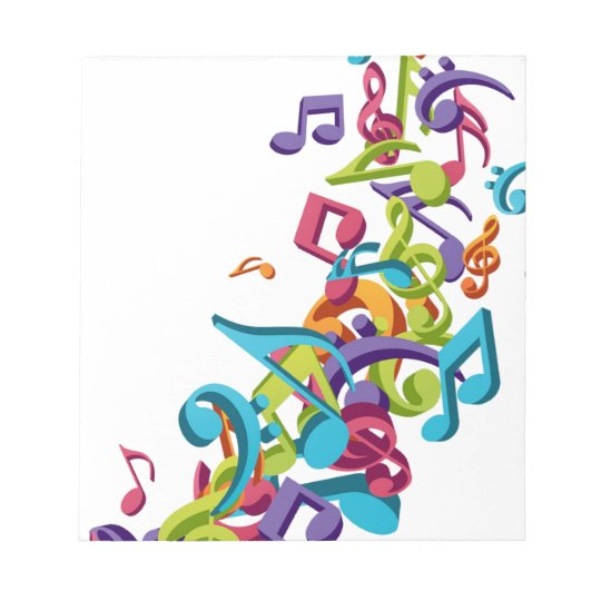 cool colourful music notes & sounds art image