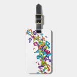 cool colourful music notes & sounds art image bag tag