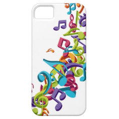 cool colourful music notes & sounds art image iPhone 5 cases