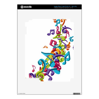 cool colourful music notes & sounds iPad 3 skins