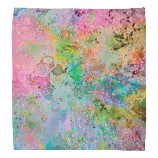 Cool colourful neon colours abstract marble image bandana