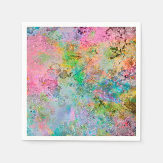 Cool colourful neon colours abstract marble image paper napkin