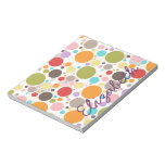 Cool colourful trendy girly bubbles polka dots memo pads