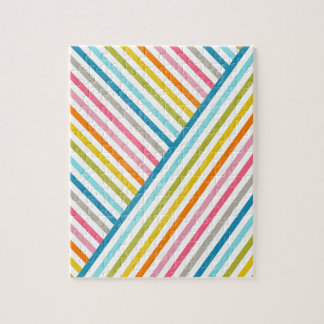 Cool colourful trendy two ways across stripes jigsaw puzzle