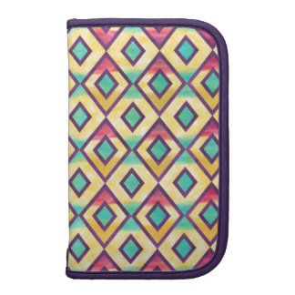 Cool colourful watercolor diamond shapes pattern folio planners
