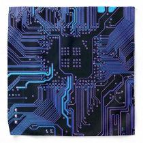 Cool Computer Circuit Board - Blue Bandana