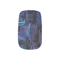 Cool Computer Circuit Board - Blue Minx Nail Wraps