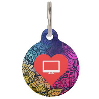 Cool Computer Stores Pictograph Pet Tag