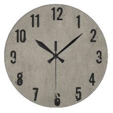 Cool Concrete Wear Wall  Clock