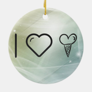 Cool Cone Icecream Double-Sided Ceramic Round Christmas Ornament