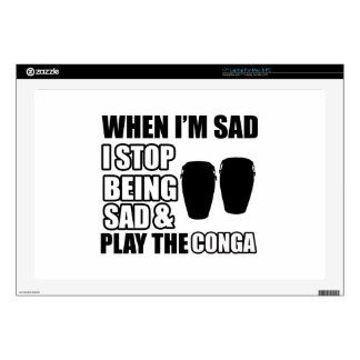 "Cool Congo Lovers Designs 17"" Laptop Decal"