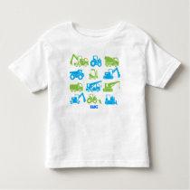 Cool Construction Transport Machines Equipment Toddler T-shirt