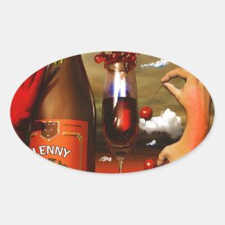 Cool Contemporary Art Oval Sticker
