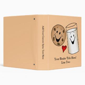 Cool Cookies and Milk Friends Cartoon 3 Ring Binder