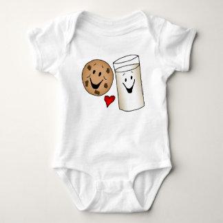 Cool Cookies and Milk Friends Cartoon Baby Bodysuit