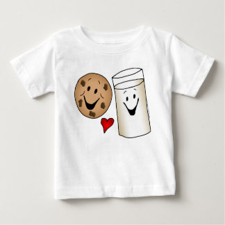 Cool Cookies and Milk Friends Cartoon Baby T-Shirt