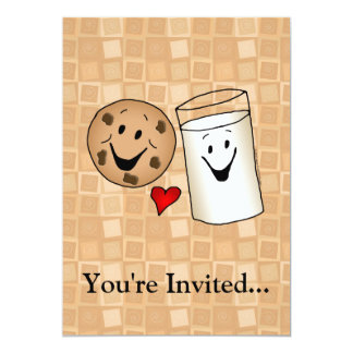 Cool Cookies and Milk Friends Cartoon Card