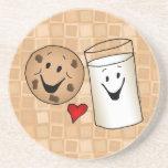 Cool Cookies and Milk Friends Cartoon Drink Coasters