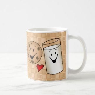 Cool Cookies and Milk Friends Cartoon Coffee Mug