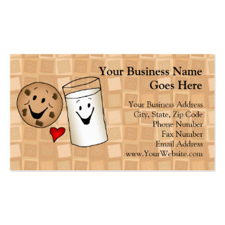 Cool Cookies and Milk Friends Cartoon Double-Sided Standard Business Cards (Pack Of 100)
