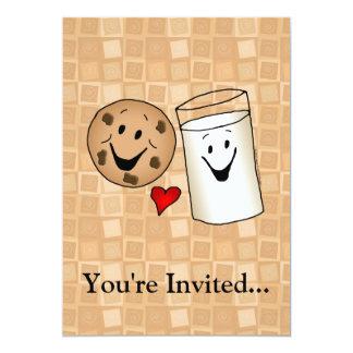 Cool Cookies and Milk Friends Cartoon Custom Invites