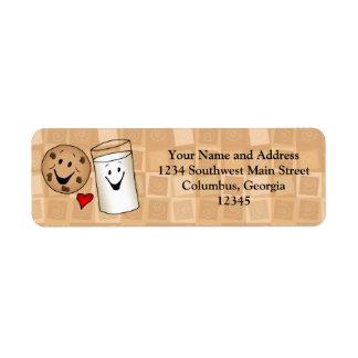 Cool Cookies and Milk Friends Cartoon Label