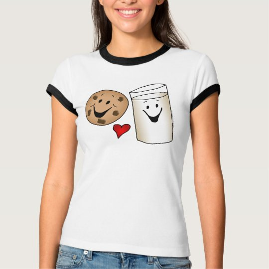 Cool Cookies and Milk Friends Cartoon T-Shirt