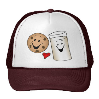 Cool Cookies and Milk Friends Cartoon Trucker Hat