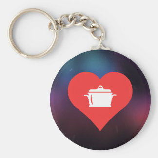 Cool cooking Pictograph Basic Round Button Keychain